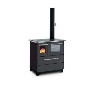Cucina a legna Woody 3,5kw Termovana nera