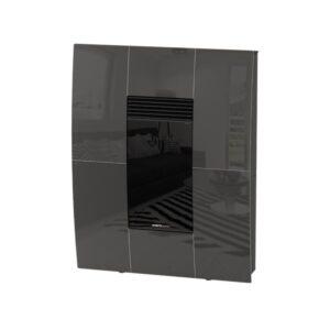 Stufa canalizzabile Compact Glass A10 Moretti antracite